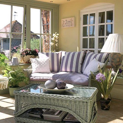 Summer Conservatory Plants And Complementary Furniture